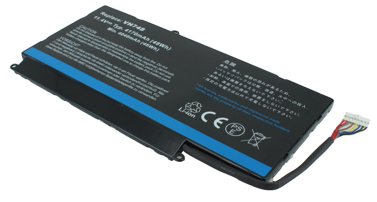 Replacement Dell VH748 Battery