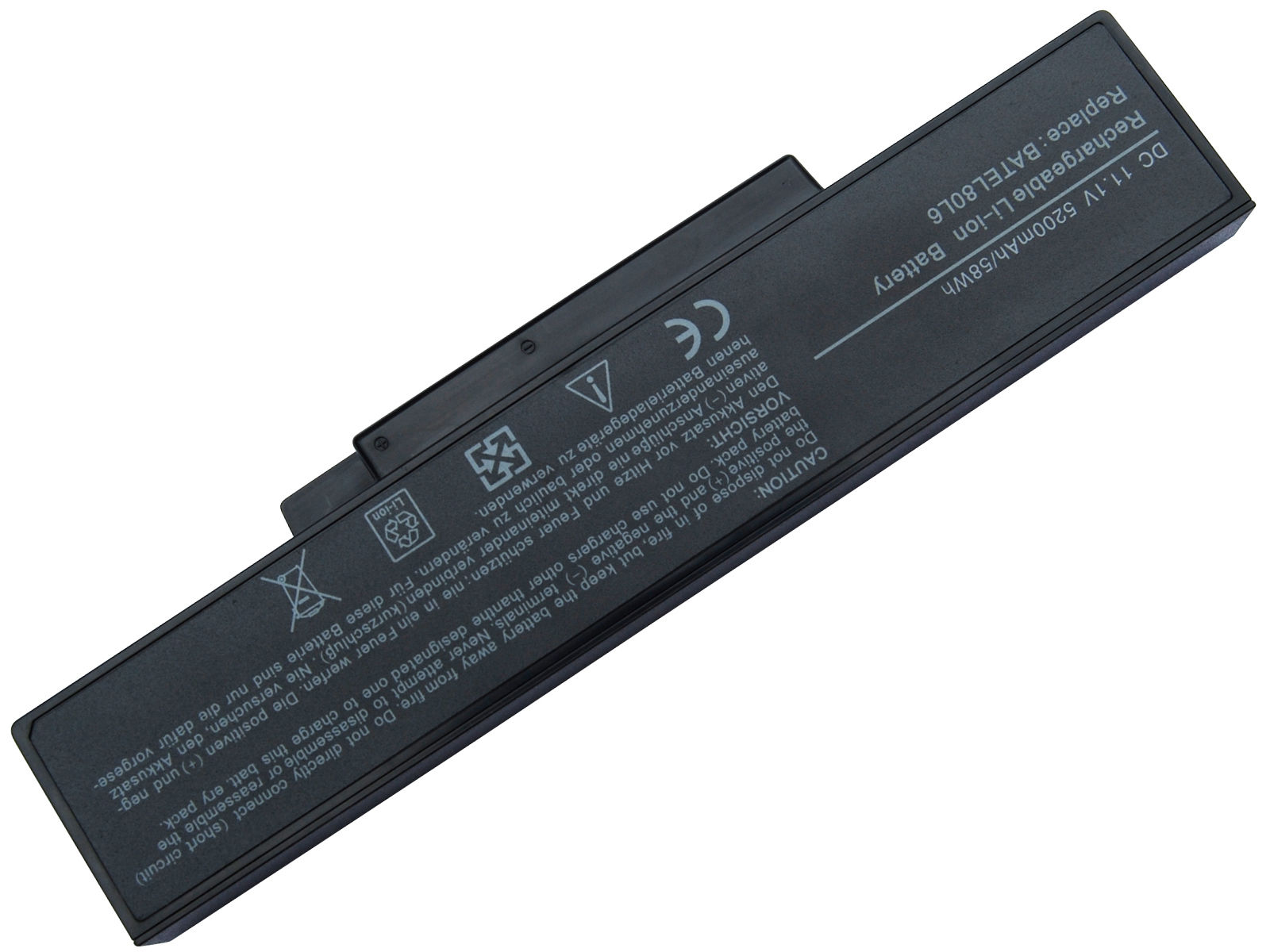 Replacement Msi GE600X Battery
