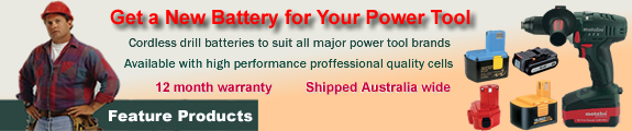 power tools batteries Store banner